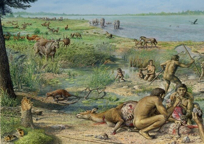 An average day in the Stone Age