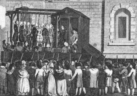 Newgate Prison execution