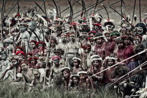 Koroway Dani tribe in Papua, Indonesia