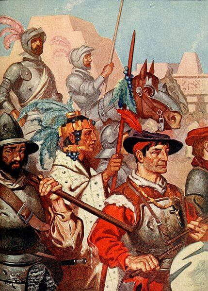 The conquistadors enter tenochtitlan to the sounds of martial music