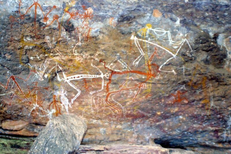 aboriginal rock painting